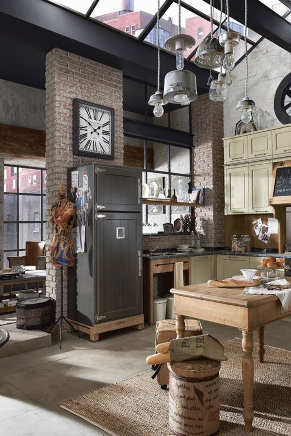 Bringing Together A Vintage Industrial Design Can Be Hard We Certainly Would Know T Industrial Decor Kitchen Urban Industrial Decor Industrial Style Kitchen