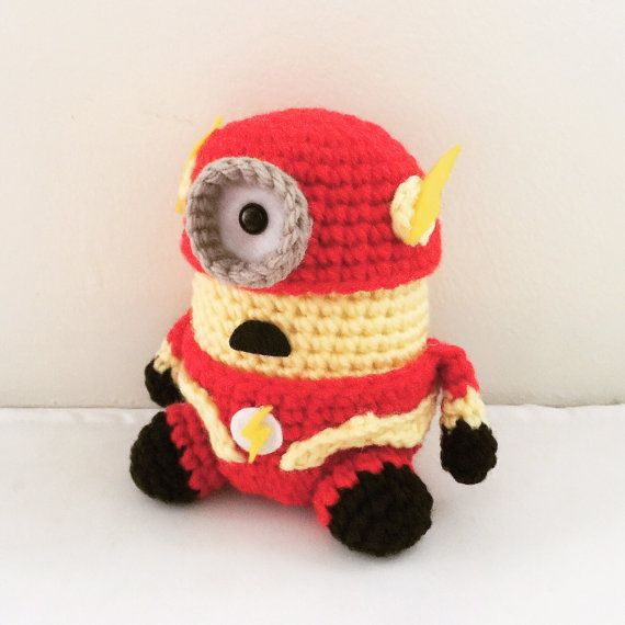 The Flash Minion PDF Pattern Crochet for Amigurumi por JAMigurumi ...