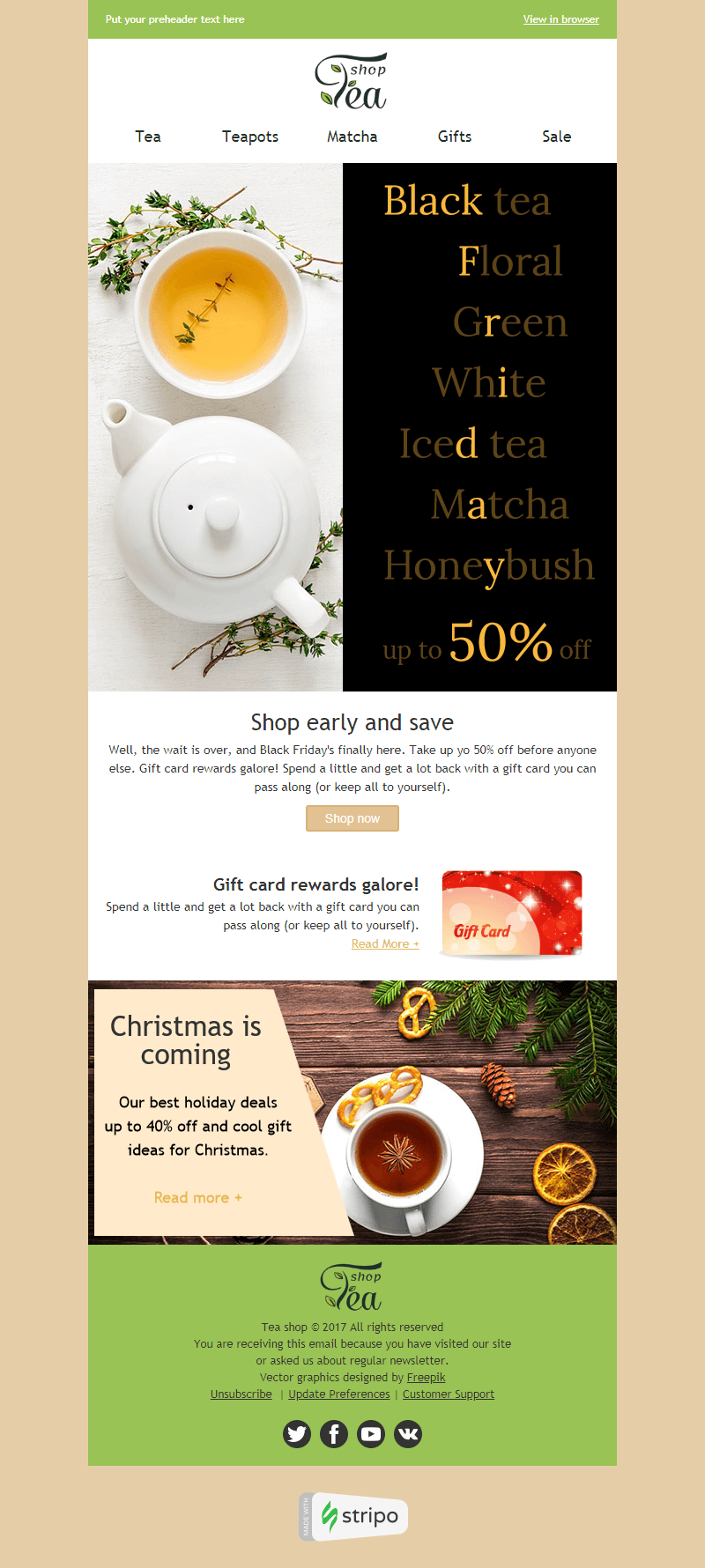 Black Friday Email Template Huge Choice for Beverage
