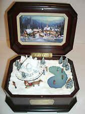 thomas kinkade holiday gathering music box ill be home for christmas 2002 - Home For Christmas 2002