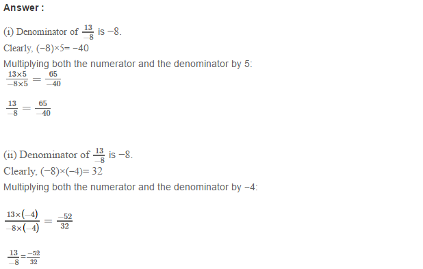 Rational Numbers RS Aggarwal CBSE Class 7 Maths Solutions Exercise