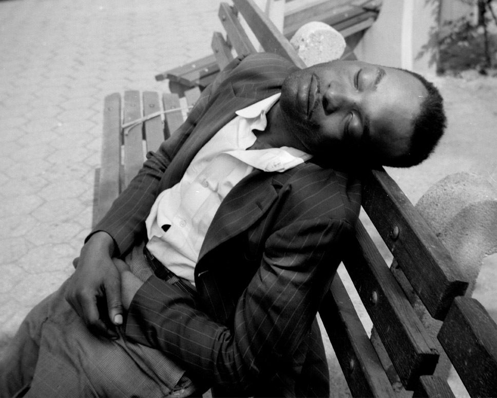 Vivian Maier New York (Man Sleeping on Bench), 1955, 1955