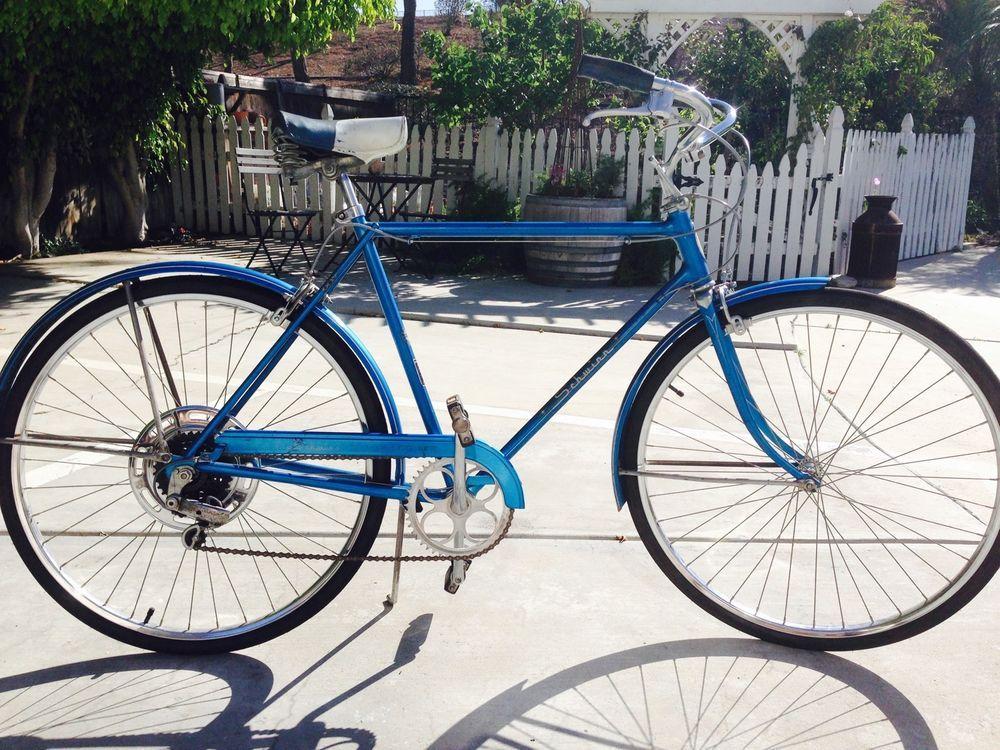 Vintage 1971 Mens Blue Schwinn Collegiate 21in 5speed Bicycle Schwinn Schwinn Bicycle Vintage Bicycles
