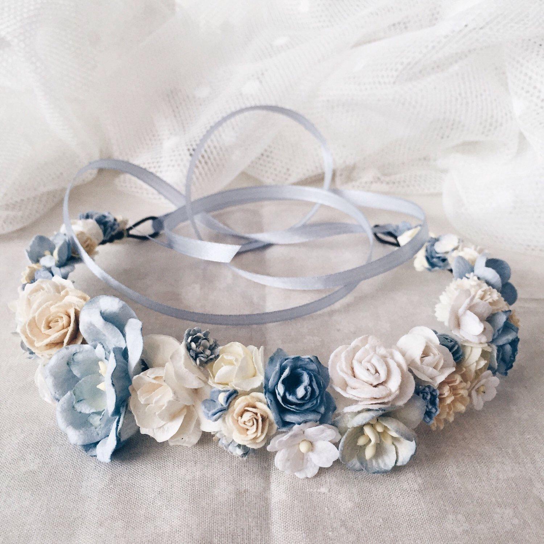 Flower crown bridal flower crown bridal floral crown blue flower flower crown bridal flower crown bridal floral crown blue flower crown wedding izmirmasajfo