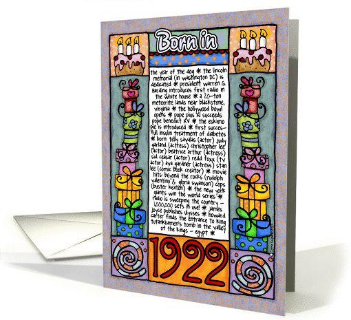 Fun facts birthday - 1922 card   Fun facts, Cards ...