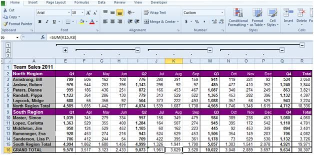 Excel 2010 may detect an error in one of the formulas you are using - spreadsheet formulas