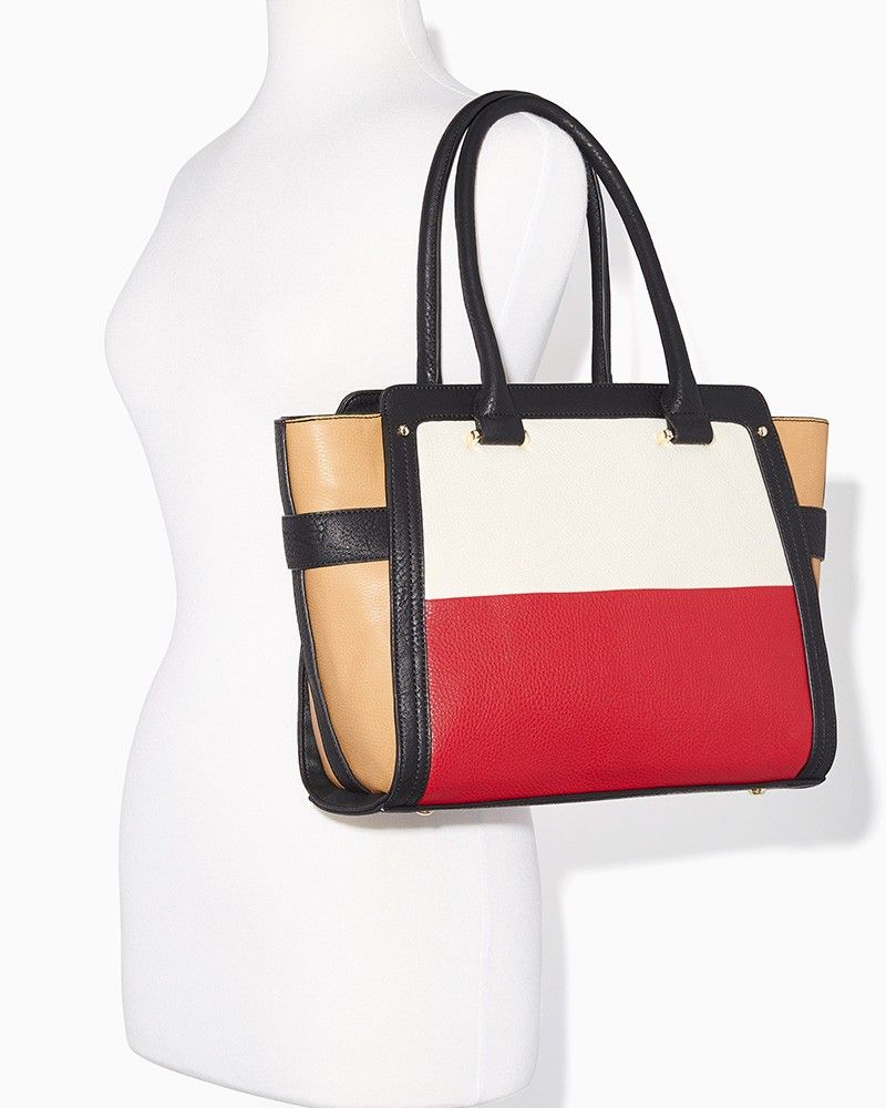 charming charlie | Colorblock Chic Satchel | UPC: 400000214313 #charmingcharlie