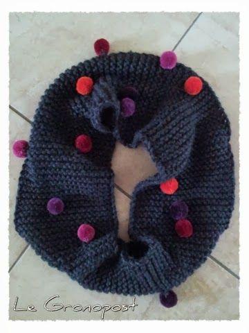 tricoter un snood avec des restes de laine