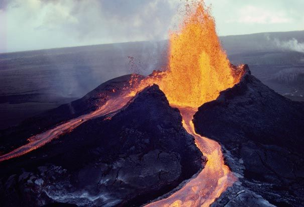 volcanoes are big erupting mounting that A day after the most active volcano on the big island of hawaii erupted, two major earthquakes rattled the island and fountains of lava gushed out of the ground in a subdivision, forcing residents .