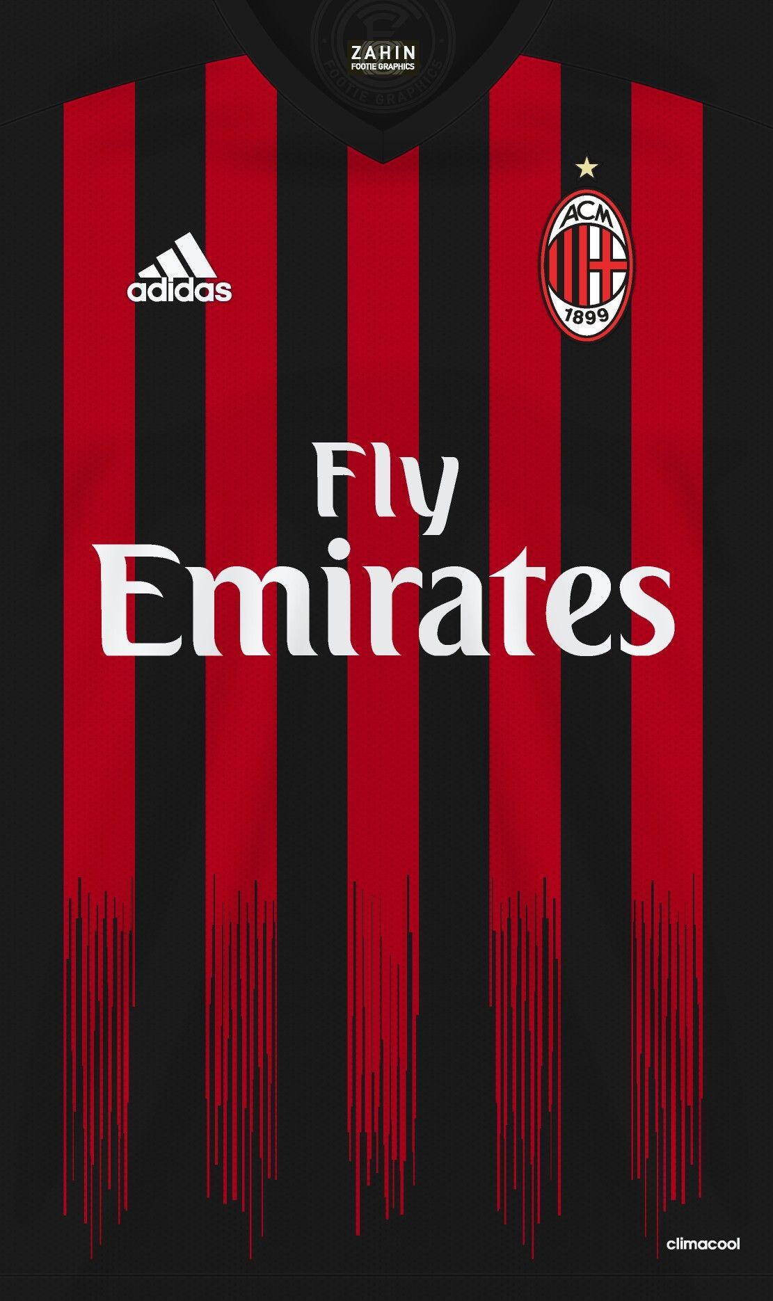 Ac Milan 16 17 Kit Home Ac Milan Bola Kaki Milan