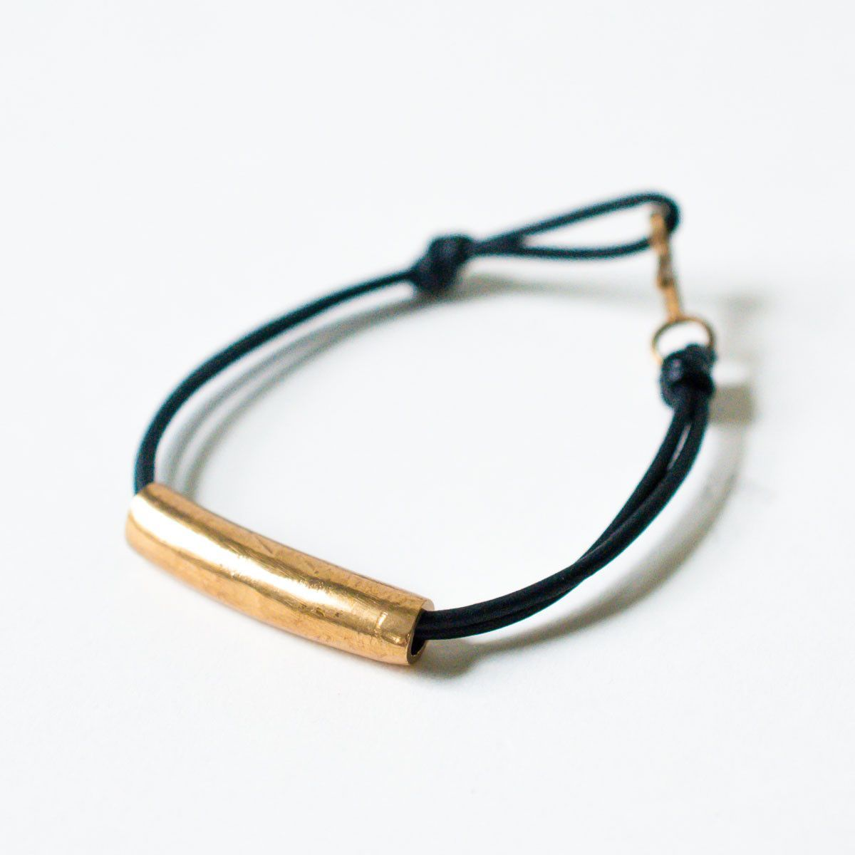 In god we trust nyc wednesday leather and brass bracelet metalic