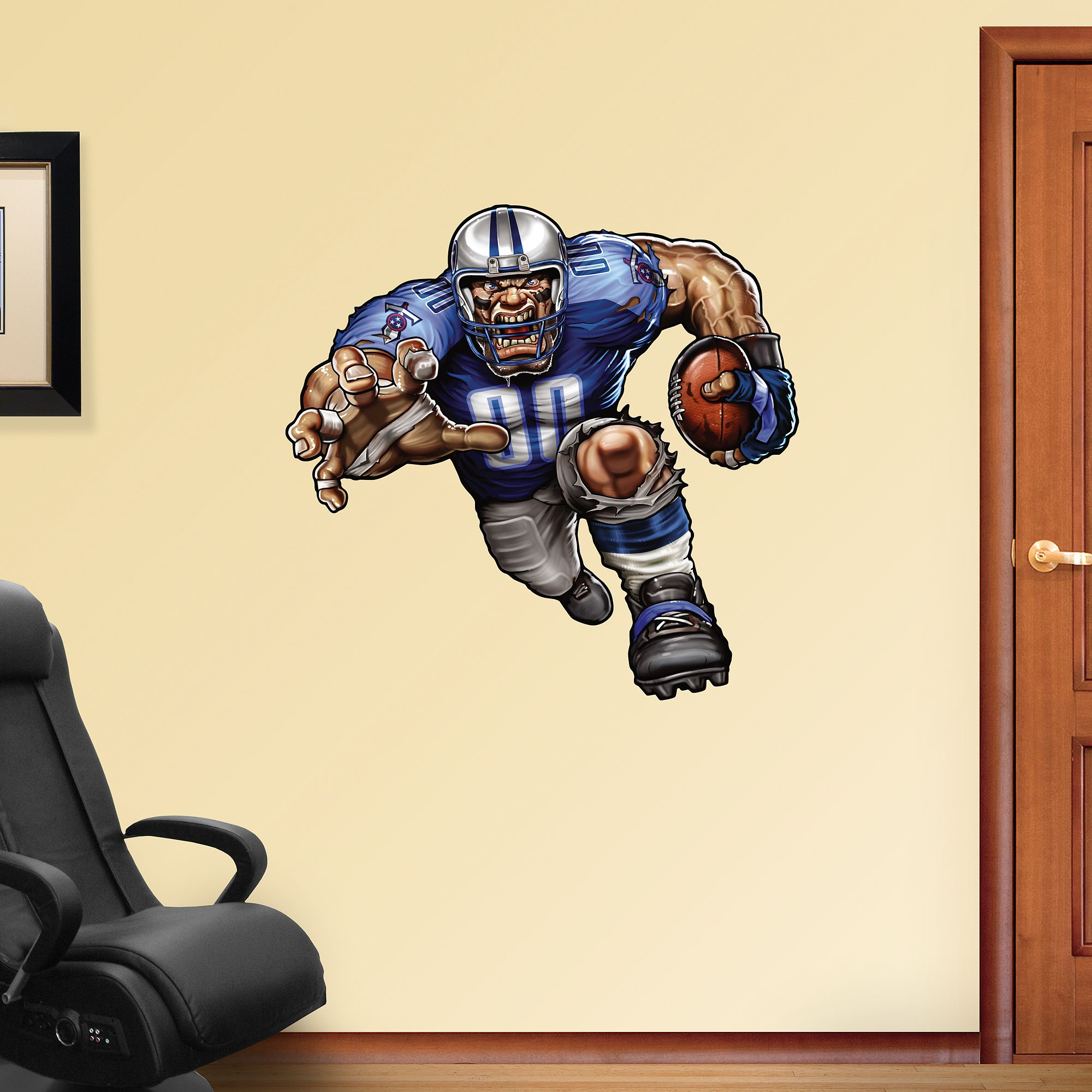 Trampling Titan REAL.BIG. Fathead Wall Decal | Tennessee Titans Wall Decal | Sports Décor