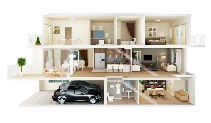 3d Floor Plan 3d Floor Plan 3d Hous G Astounding Architectures 3d House Plans House Floor Plans American Style House