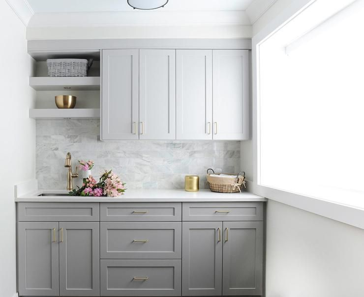 Best Thin Brass Pulls On Gray Shaker Cabinets Contrasts The 400 x 300