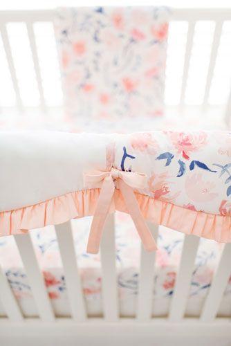 Peach Crib Bedding Set Rosewater In Peach Collection Crib