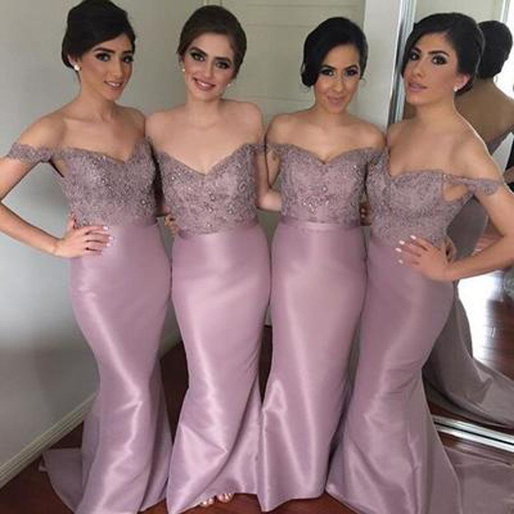 Mermaid sweet heart off shoulder affordable long wedding party mermaid sweet heart off shoulder affordable long wedding party bridesmaid dresses wg123 ombrellifo Image collections