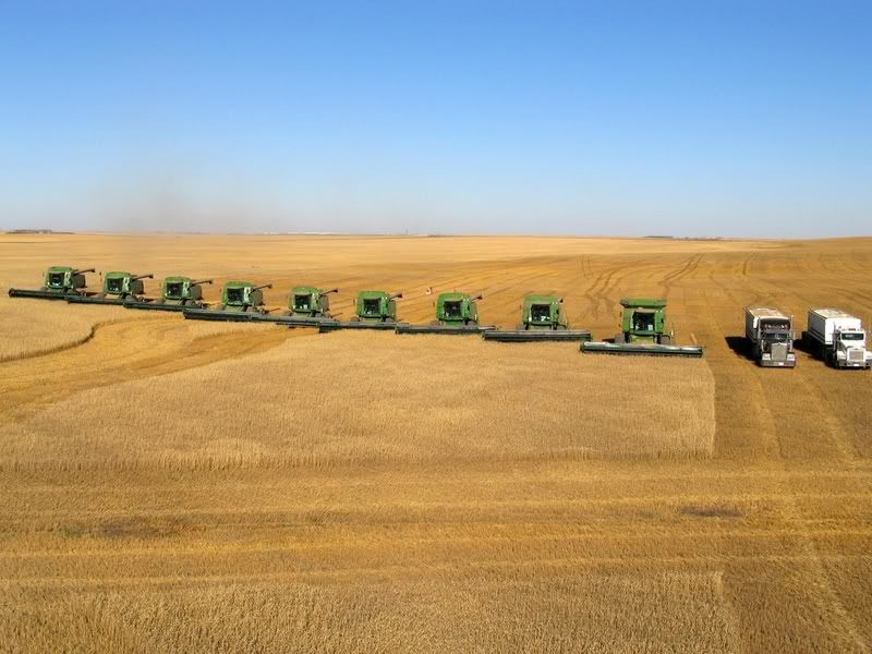 Some Pictures From Some Huge Wheat Farms In Alberta Farming In