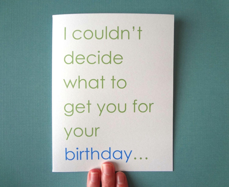 Dirty birthday card for boyfriend birthday card for husband wife