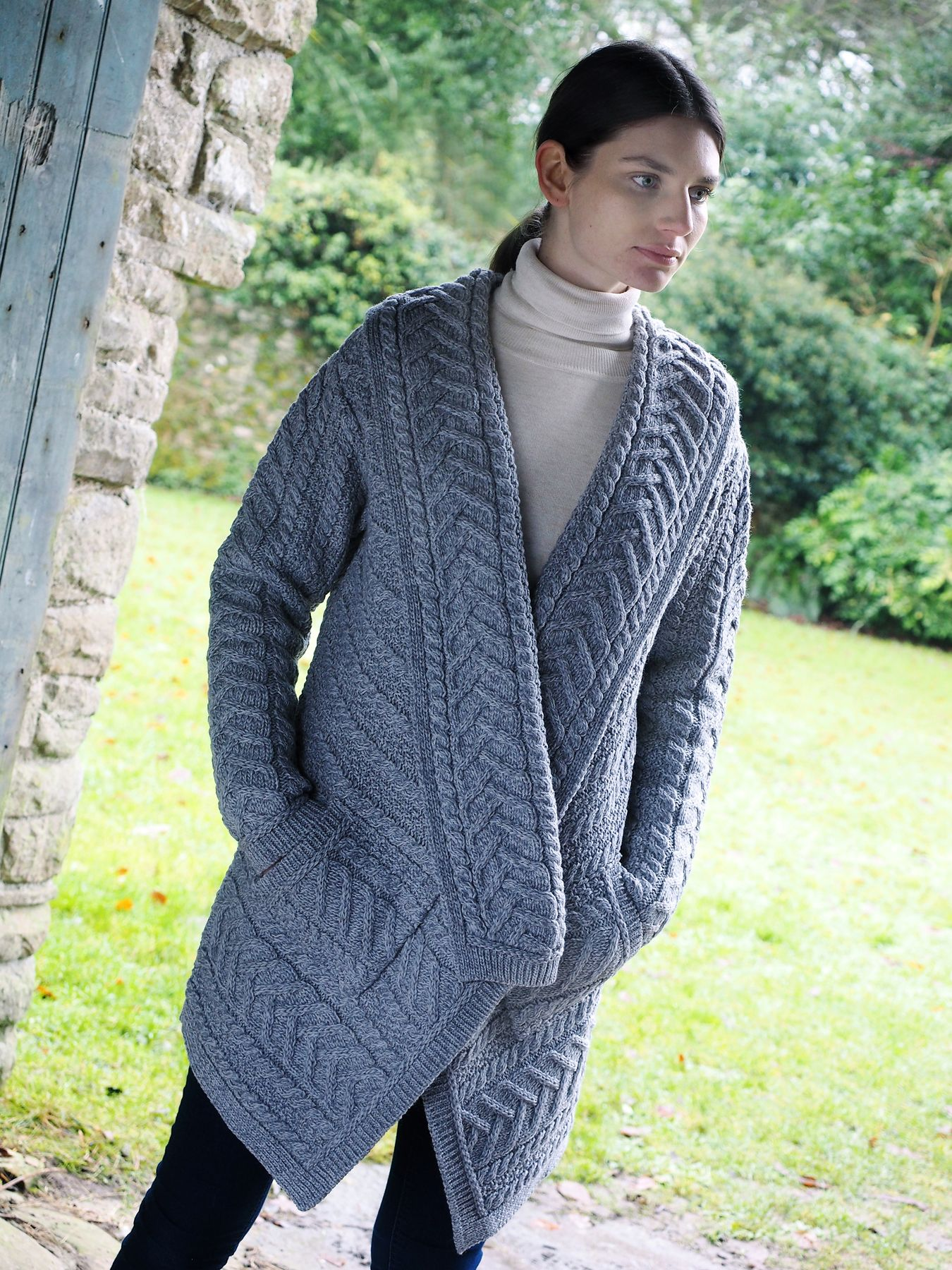 Ladies Aran Waterfall Cardigan by Natallia Kulikouskaya for ...