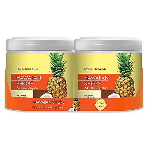 Eliminate odors and bring the scents of the Hawaiian tropics into your home or office with the Smells BeGone Hawaiian Shore Odor Absorber. Each jar absorbs odors for up to 90 days and improves the air quality of a room up to 450 square feet.