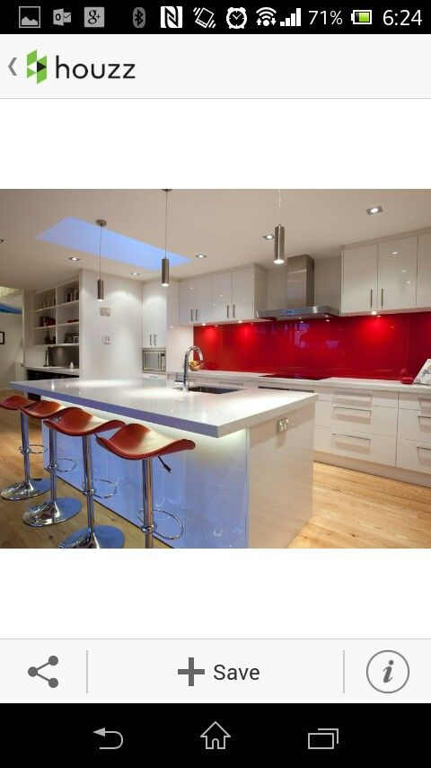 Kitchen backsplash ideas a splattering of the most for Casa minimalista roja