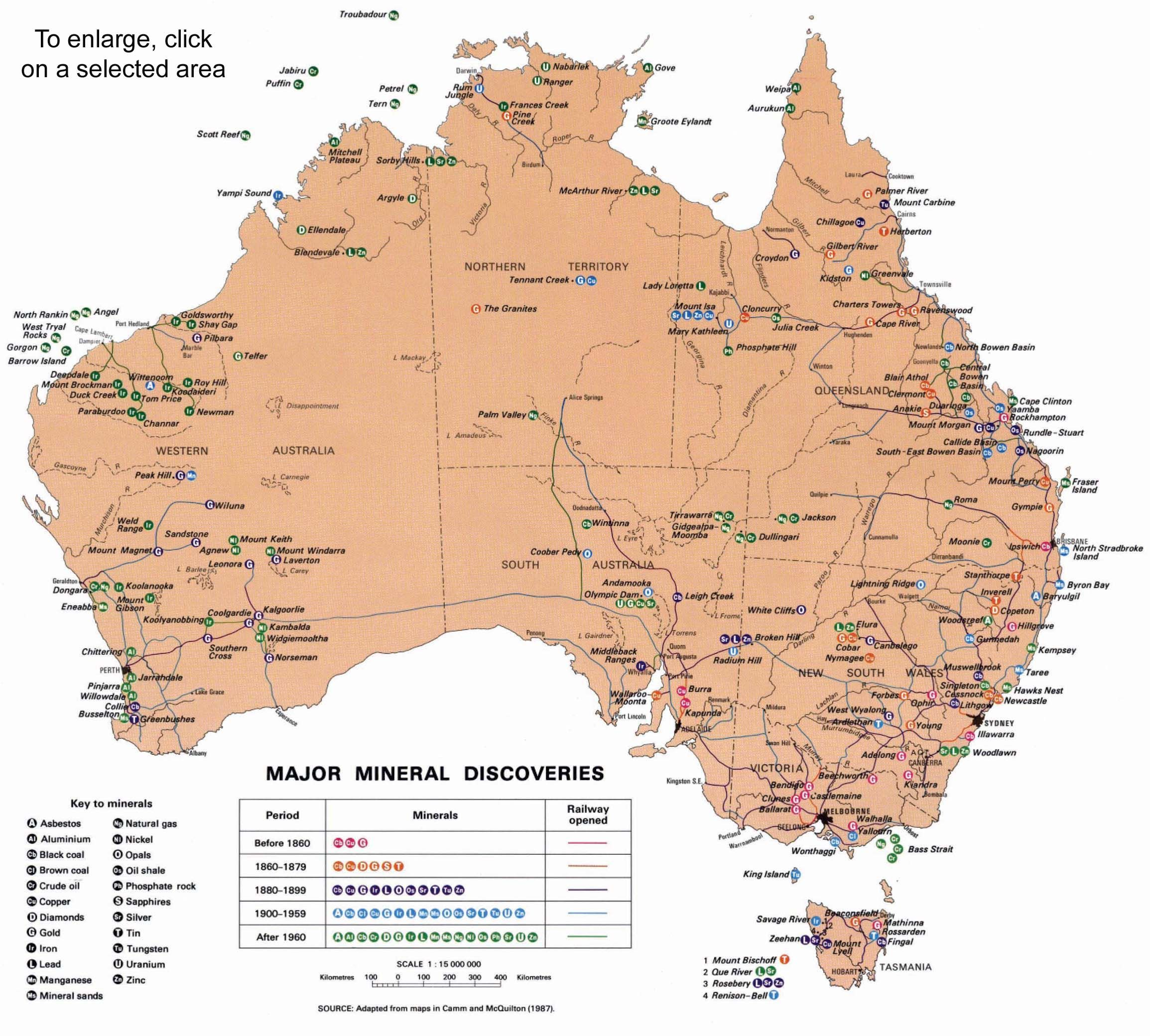 resource map of australia with date of discovery