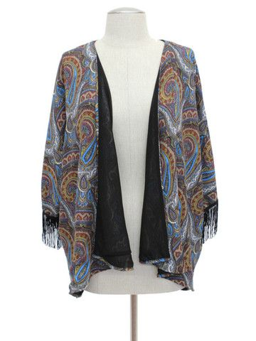 This beautiful paisley kimono is the perfect item for your summer wardrobe! It can add style to any outfit! The breezy material makes it perfect for a summer evening!