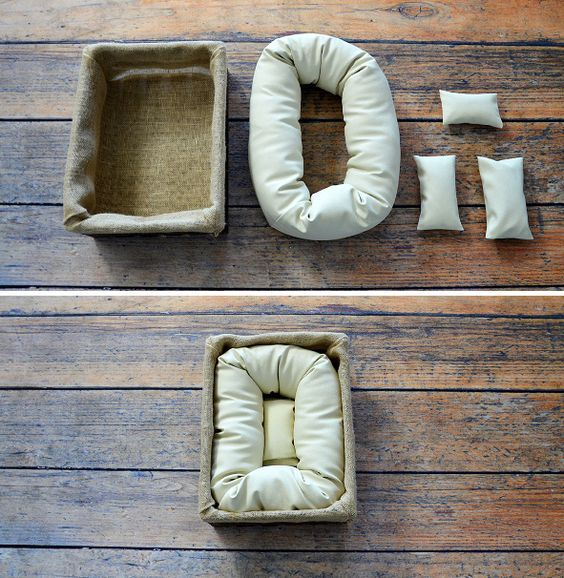Posing props for newborn photography are helpful accessories for achieving adorable sleeping poses