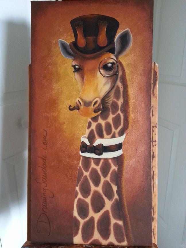Drawing Saudade: Doodle 330 - Dapper Giraffe Finished!