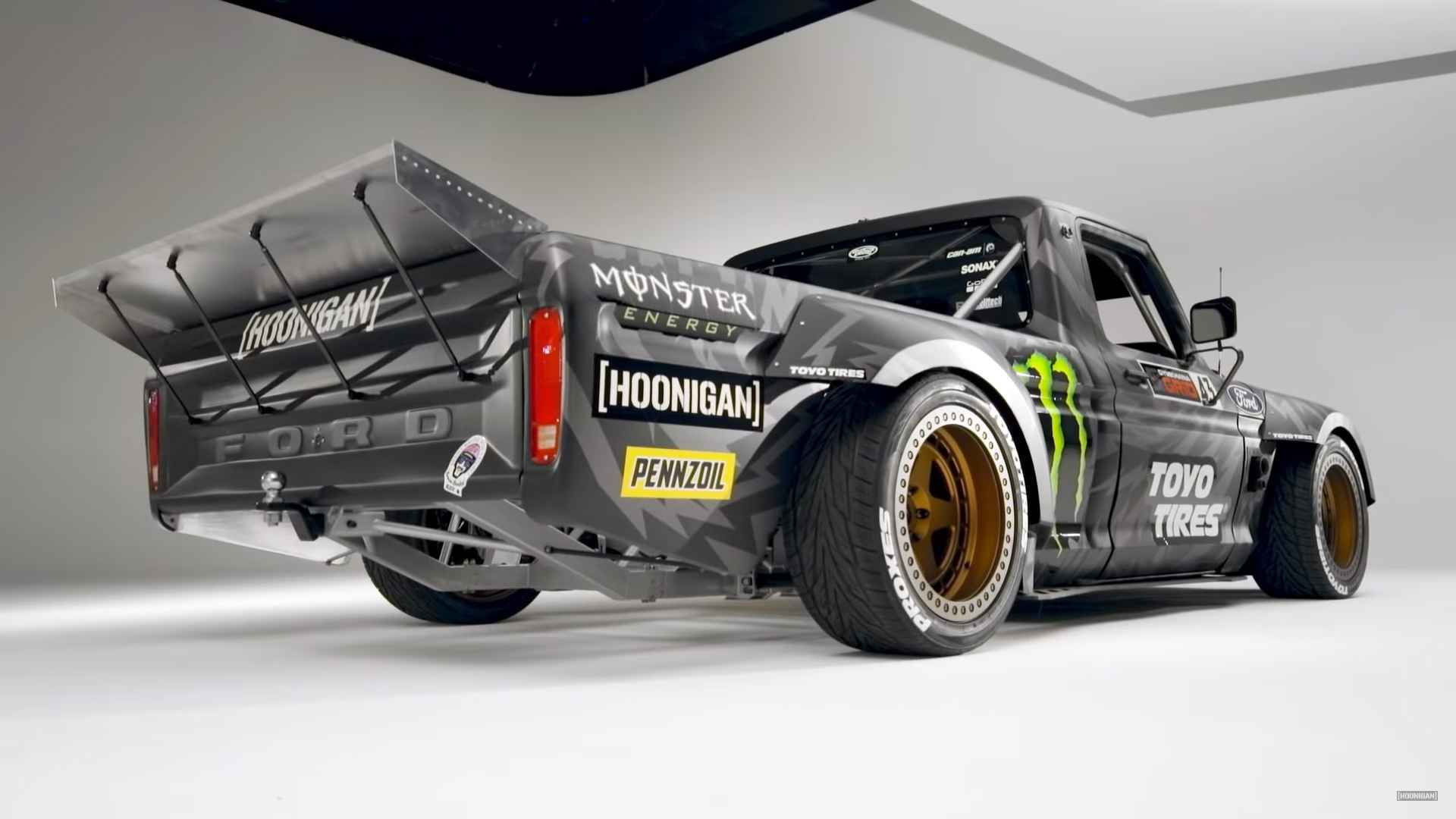 Ken Blocks Crazy Awd F  Hoonitruck Revealed With Ford Gt Power