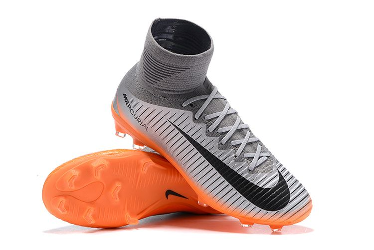 Nike Mercurial Superfly V Cr7 Chapter 4 Fg Cool Grey Orange Metallic Hematite Superfly Soccer Cleats Adidas Soccer Shoes
