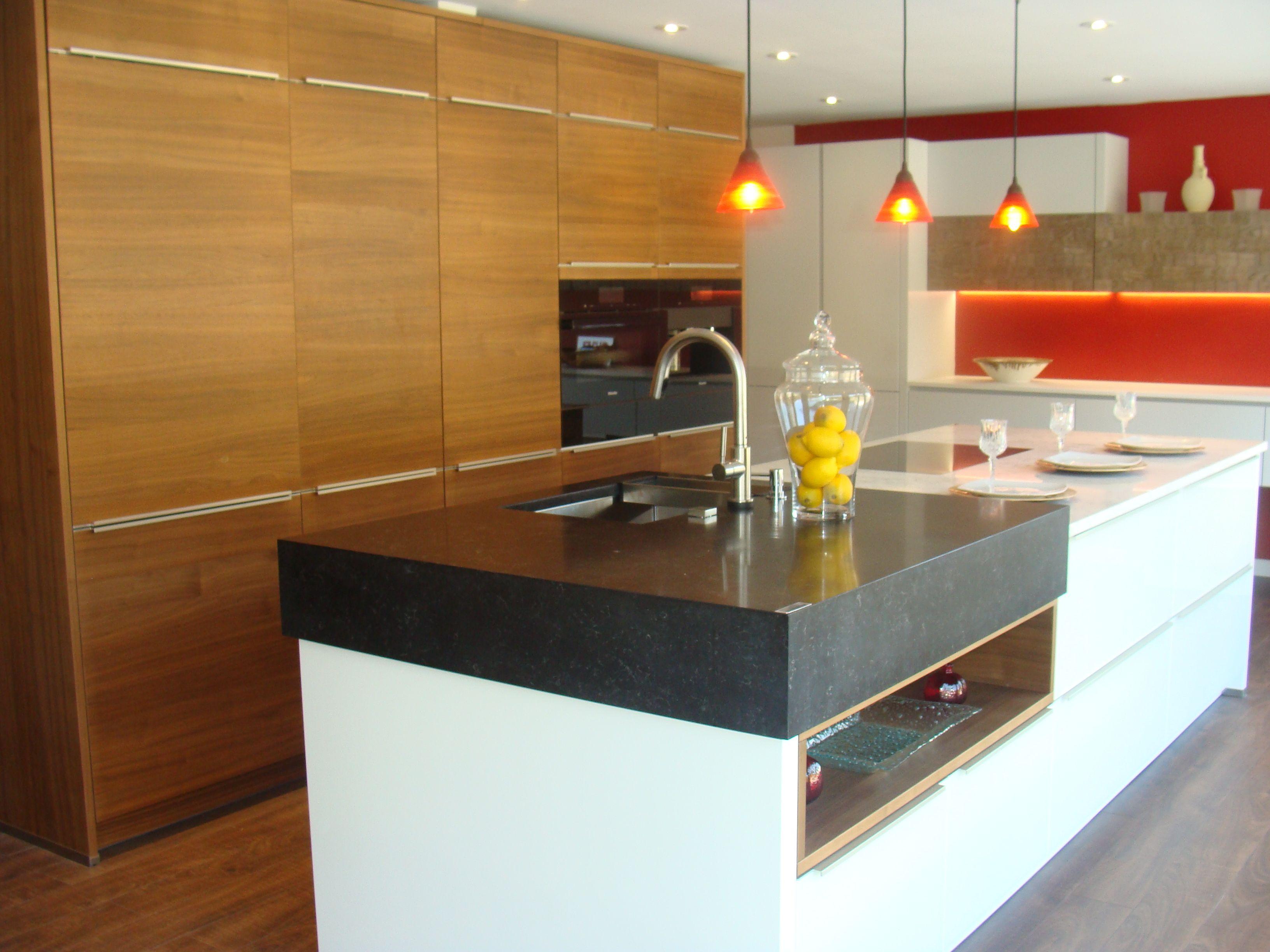 Alnoclass Walnut Horizontal Wood Grain By Alno Kitchen Design Companies Cabinetry Design Custom Kitchens