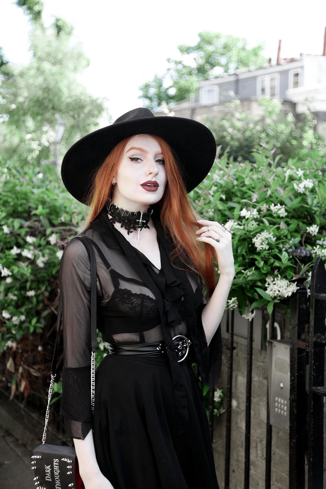 4bbef4b116 Olivia Emily wears Killstar Witch Brim Hat