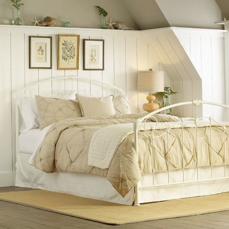 Showcasing a white finish and country-chic scrolling openwork design - Lane Bedroom Furniture