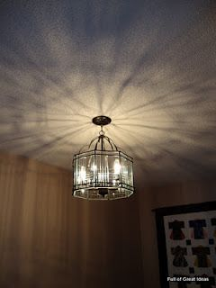 Full of Great Ideas: Blinded by the light - $15 Hallway light transformation