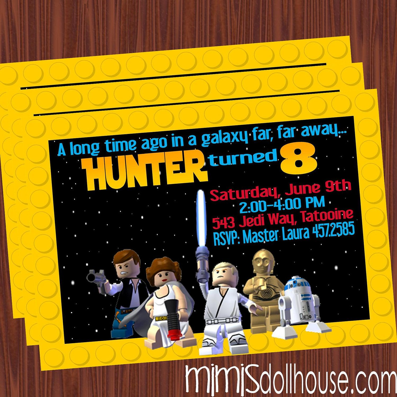 Lego Star Wars Party Invitation Lego Star Wars by MimisDollhouse ...