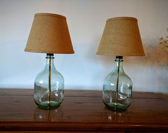 Table Lamp Bedside Lamps Small Bottle Gl Set Of 2 Bedroom Modern Decor