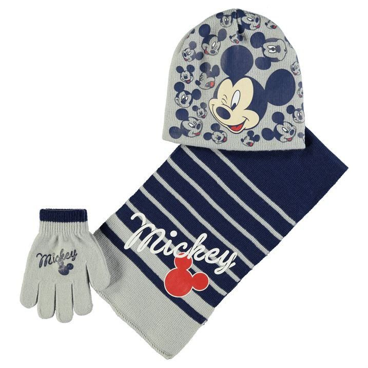 Disney Mickey Boys Set Hat Scarf and Gloves Winter