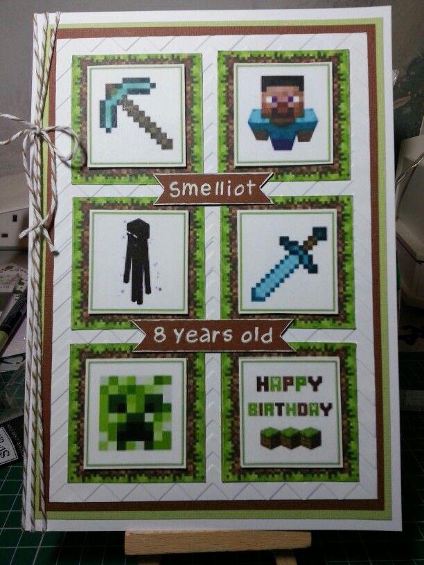 Minecraft Birthday Card Minecraft Birthday Card Minecraft Cards Girl Birthday Cards