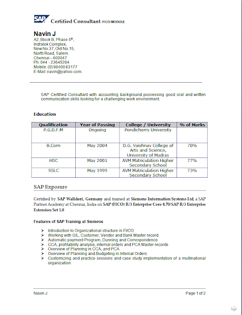 curriculum vitae example for students free download sample
