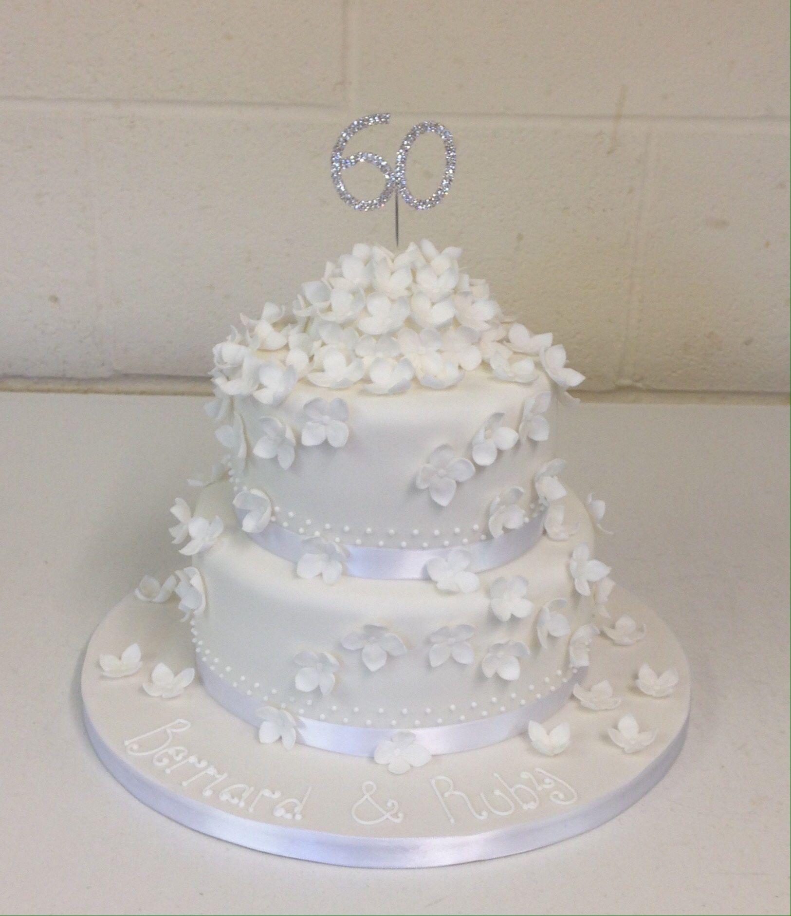 Diamond anniversary cake | Cake | Pinterest | Cake, Celebration ...