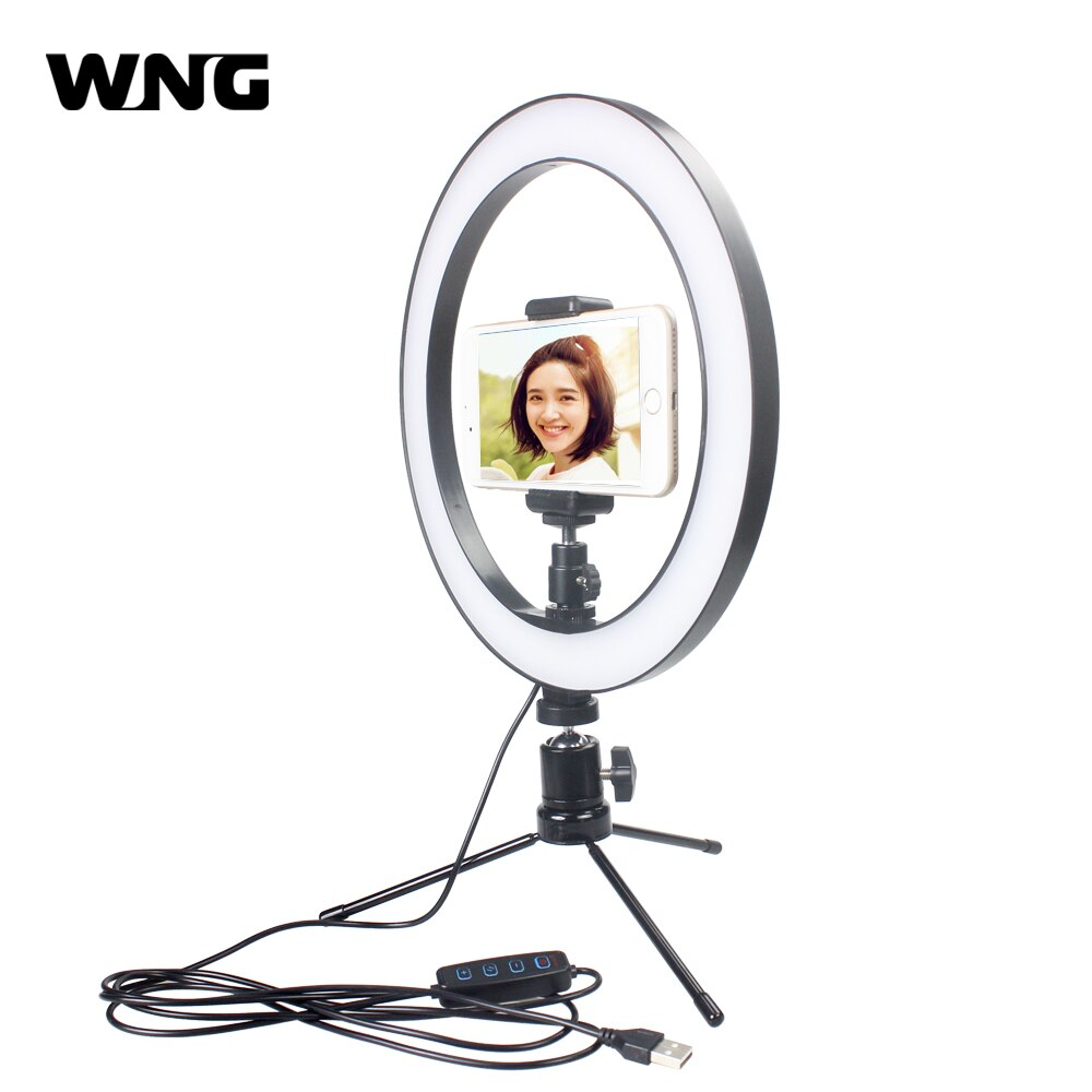 Led Ring Light Video Light With Clip Selfie Stick Tabletop Best Price For Phonesep Com In 2020 Led Ring Light Led Ring Video Lighting