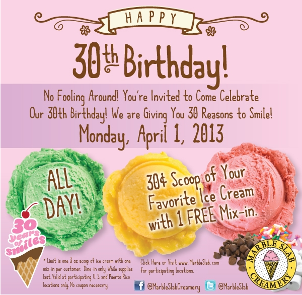 Almost Free Ice Cream With Toppings Monday At Marble Slab Creamery Coupon Via The Coupons App Coupon Apps Money Saver Marble Slab Creamery