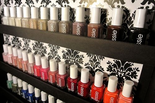 Organize Nail Polish On The Inside Of A Closet Door All Essie