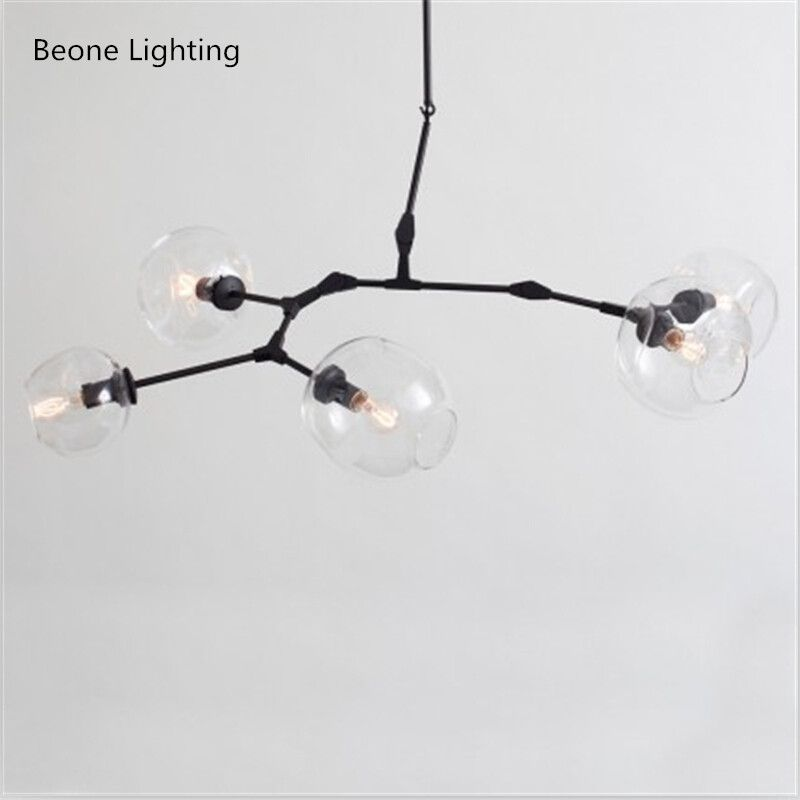 Modern 5 Glass Pendant Light Nordic Dining Room Kitchen Designer Hanging Lamps Avize Lustre Lighting