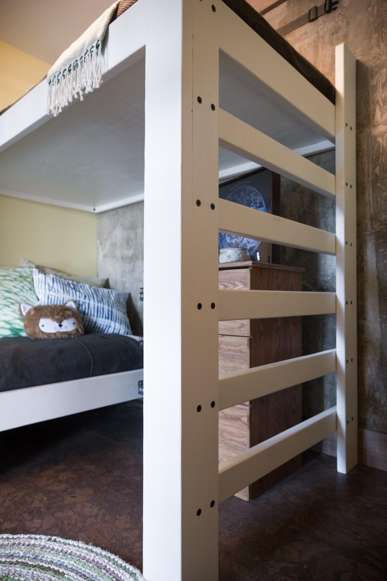 Kids Bunk A Ledger Board Attached To The Wall Eliminates The Need
