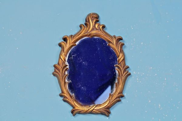 Petite Guilded Oval Mirror
