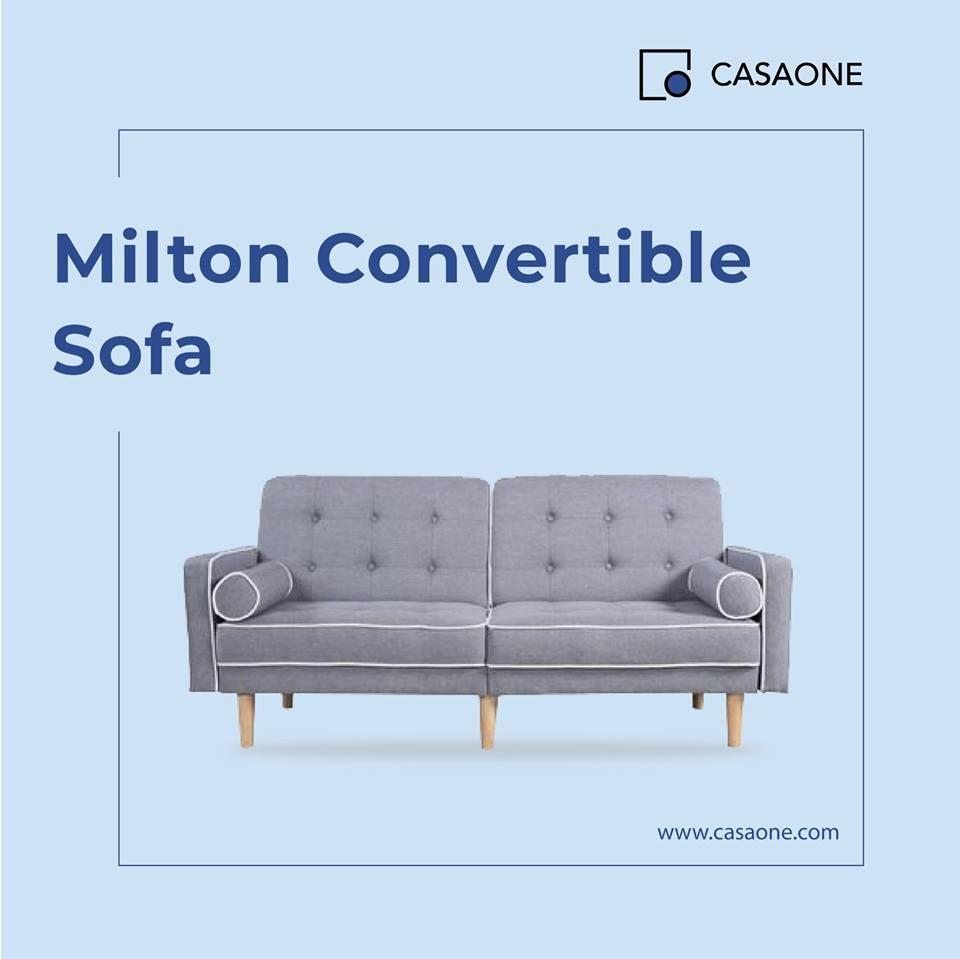 - Milton Convertible Sleeper Sofa Light Gray Sofa, Furniture, Home