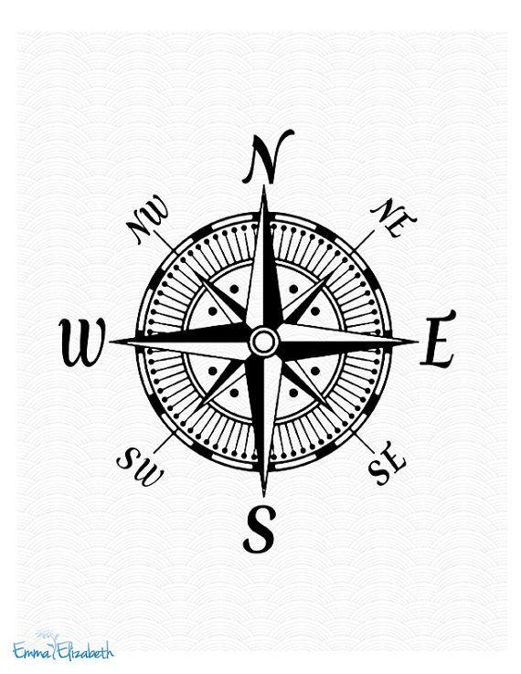 Nautical Compass Art Print Google Pretrazivanje Compass Tattoo Compass Art Compass Rose Art