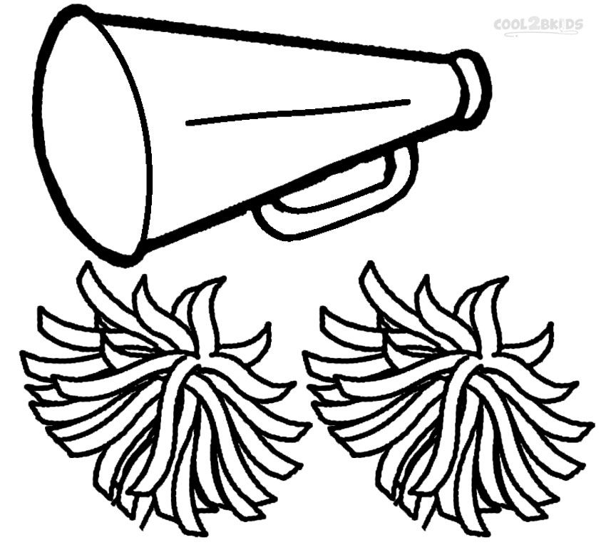 poms colouring pages. Printable Cheerleading Coloring